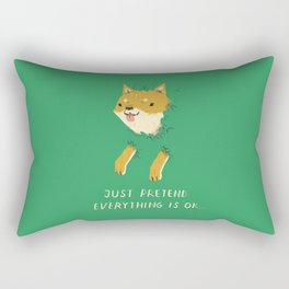 bush shiba Rectangular Pillow