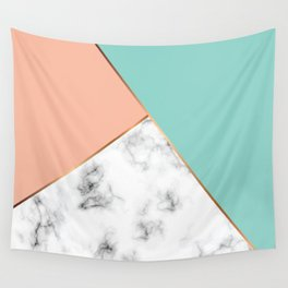 Marble Geometry 056 Wall Tapestry