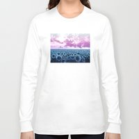 sunflowers Long Sleeve T-shirts featuring sunflowers by Bekim ART