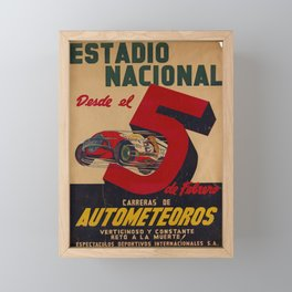 estadio nacional carreras de autometeoros Affiche Framed Mini Art Print