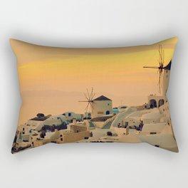 Sunset in Oia, Santorini Rectangular Pillow