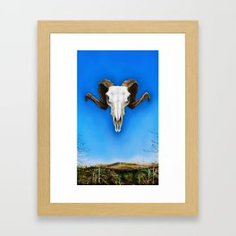 Dartmoor Sheep Skull Framed Art Print