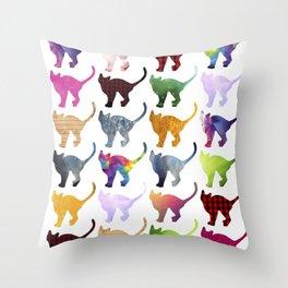 CATS, Rainbow Throw Pillow