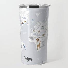 Animal Map of the world Travel Mug