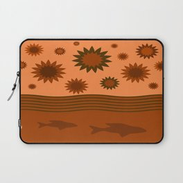 In Another Universe - Orange Brown Laptop Sleeve