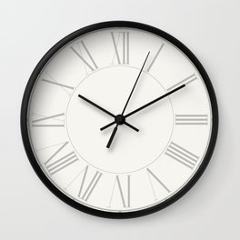 Lace Cap White in an English Country Garden Wall Clock