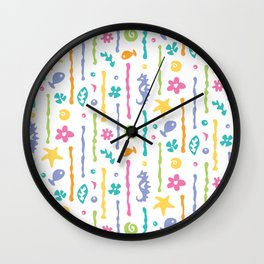Seahorses and Seaweed Wall Clock