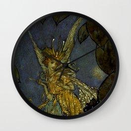 """The Fairy Queen"" Fairy Tale Art by Edmund Dulac Wall Clock"