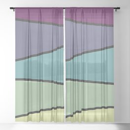 Purple Saw 2 Sheer Curtain