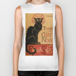 Le Chat Noir The Black Cat Poster by Théophile Steinlen Biker Tank