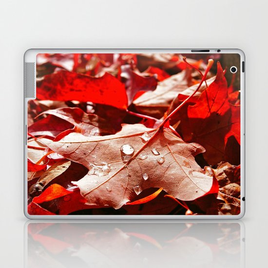 Autumn red Laptop & iPad Skin