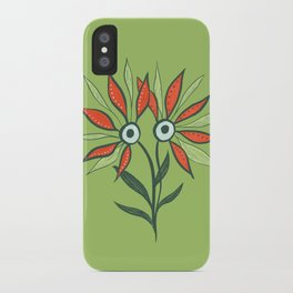 Cute Eyes Flower Monster iPhone Case