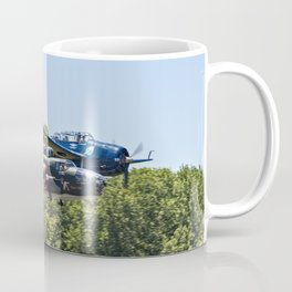 B-24 and Hellcat World War II Aircraft Fly Together at Mosby Missouri Coffee Mug
