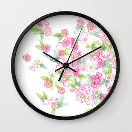 Martha's Flowers Wall Clock