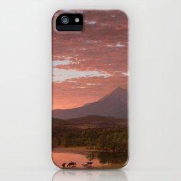 Frederic Edwin Church - Mount Katahdin - Hudson River School Oil Painting iPhone Case
