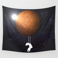 mars Wall Tapestries featuring Mars by Cs025