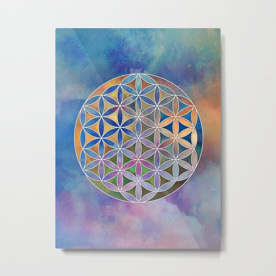 The Flower of Life in the Sky Metal Print