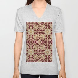 A Modern Vintage Dream (ruby red background) Unisex V-Neck