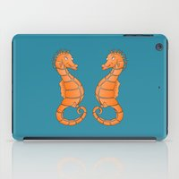 seahorse iPad Cases featuring Seahorse by mailboxdisco