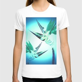 Unicorn Bird of Paradise 1980's Retro Floral T-shirt