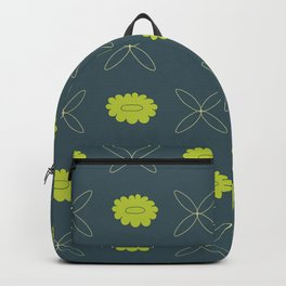 Floral pattern - blue and green Backpack