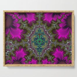 Fractal Abstract 73 Serving Tray