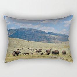 Roaming Bison Rectangular Pillow