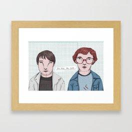 Erlend Oye & Eirik Boe Framed Art Print