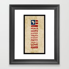 Freedom Flag Framed Art Print