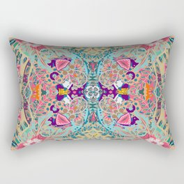 Turquoise Floral -  Hippie Style  Rectangular Pillow