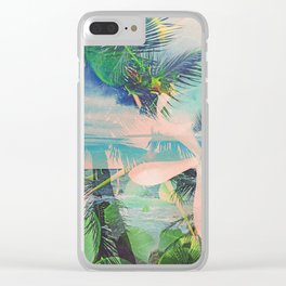 Secret Beach wide Clear iPhone Case