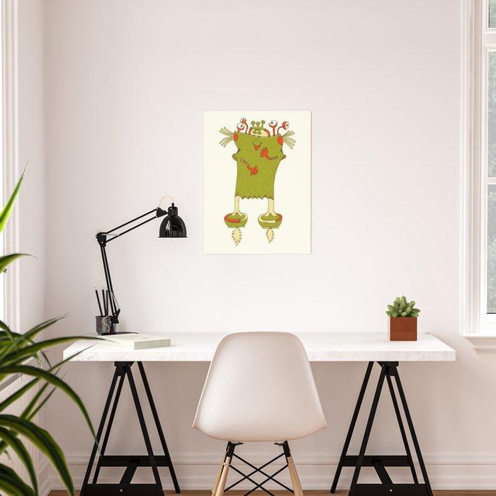 Robot Alien Monster No 101 Poster