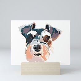 Schnauzer Colorful Dog Illustration Mini Art Print