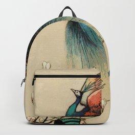 Peacock vintage illustration Backpack