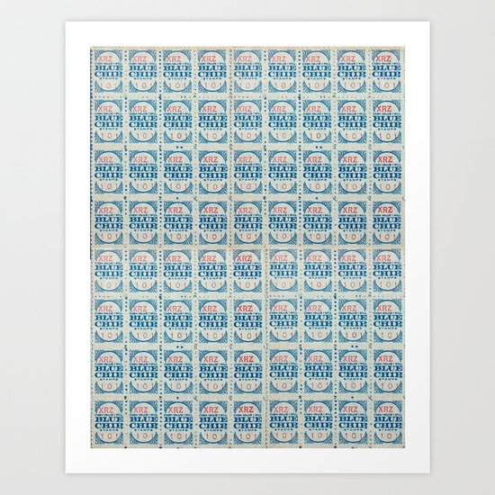 Blue Chip Stamps Art Print