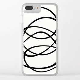 Come Together - Black and white, minimalistic, abstract, art print Clear iPhone Case
