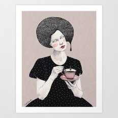 Nina in black Art Print
