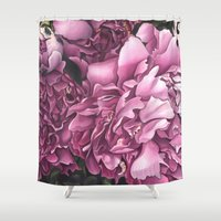 peonies Shower Curtains featuring Peonies by Jada Fitch