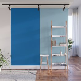 Electric Blue Lemonade and Aquamarine Duo Tone Wall Mural