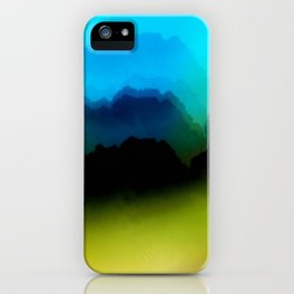 Misty Mountain View iPhone Case