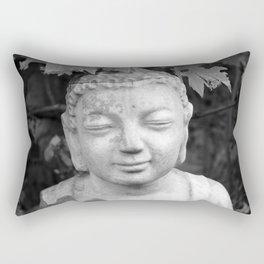 Buddha back and white Rectangular Pillow