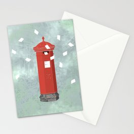 Red postbox Stationery Cards