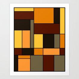 Mondrian Autumn Art Print