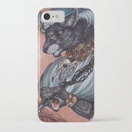 Jack of Spades art print iPhone Case