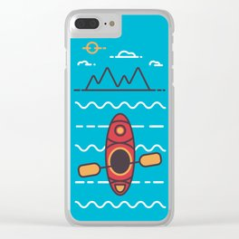 Kayaking Clear iPhone Case