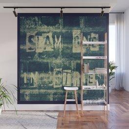 Slam 1 Industries Ransom Note Blue Tone Wall Mural