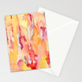 Dripping Watercolors Stationery Cards