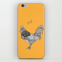 cock iPhone & iPod Skins featuring Cock by lush tart