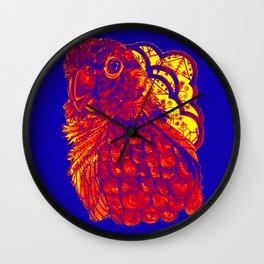Sunset Conure Wall Clock