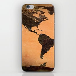 Abstract Earth Science Map iPhone Skin